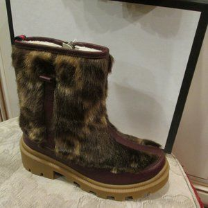 GUCCI boy's leather with fur boots Euro 33/US 2